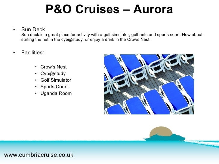 <ul><li>Sun Deck Sun deck is a great place for activity with a golf simulator, golf nets and sports court. How about surfi...