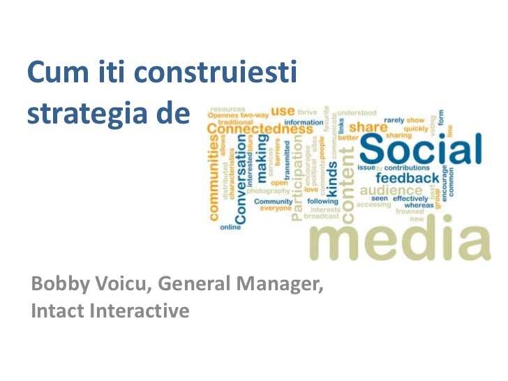 Cum iticonstruiestistrategia de<br />Bobby Voicu, General Manager, Intact Interactive<br />
