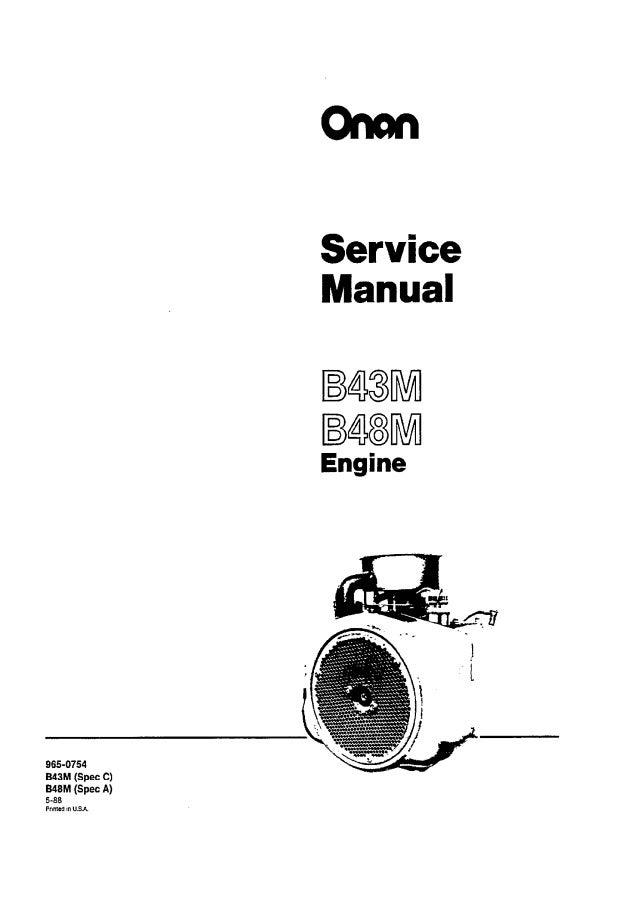 Cummins onan b48 m engine service repair manual