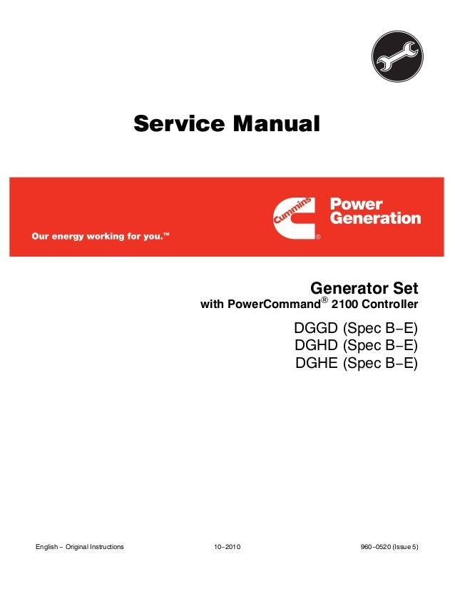 Cummins Onan Dggd Generator Set With Power Command 2100