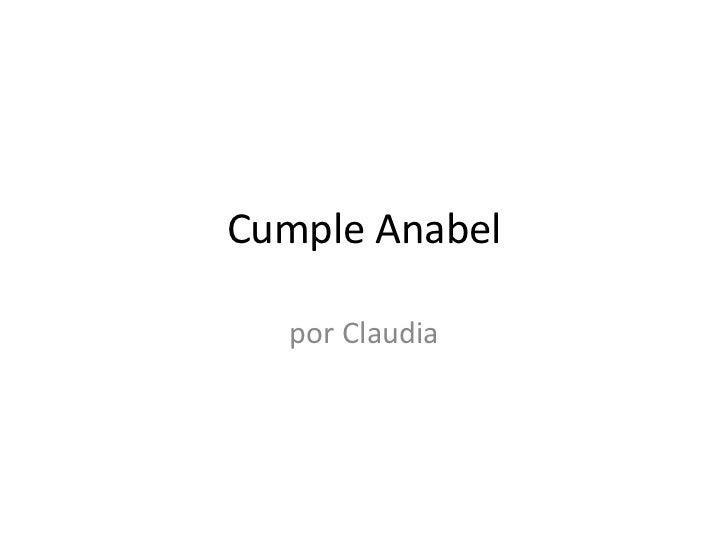Cumple Anabel  por Claudia