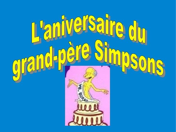 L'aniversaire du  grand-père Simpsons