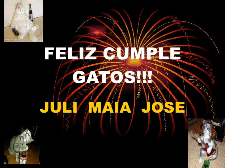 FELIZ CUMPLE GATOS!!! JULI  MAIA  JOSE