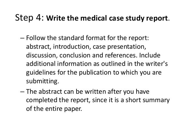 how to write a medical case study