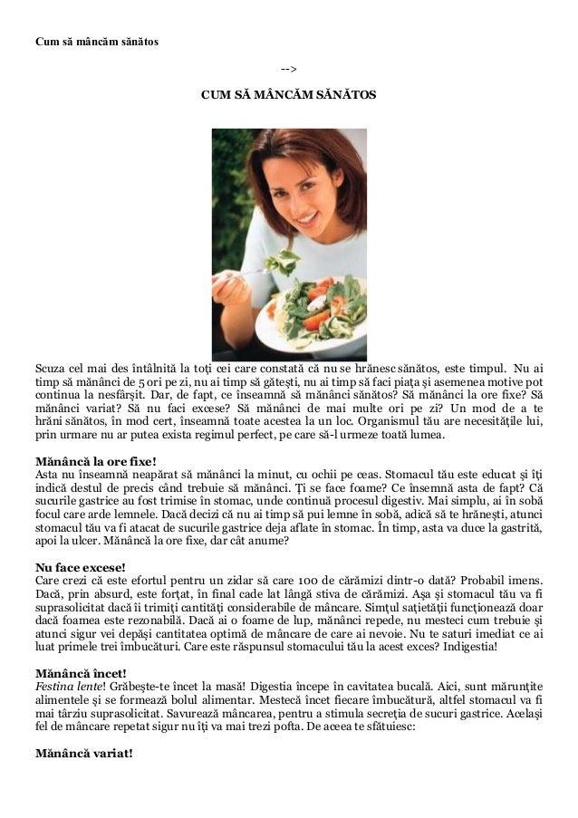 Cum să mâncăm sănătos                                                  -->                                  CUM SĂ MÂNCĂM ...