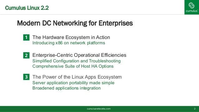 Cumulus Linux 2.2 Overview Slide 2