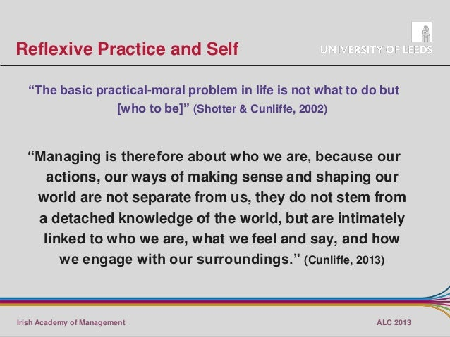 compare models of reflective practice (2003) describe reflective practice as a tool that allows teachers  theory that  reflection is necessarily a process embarked on after the event.
