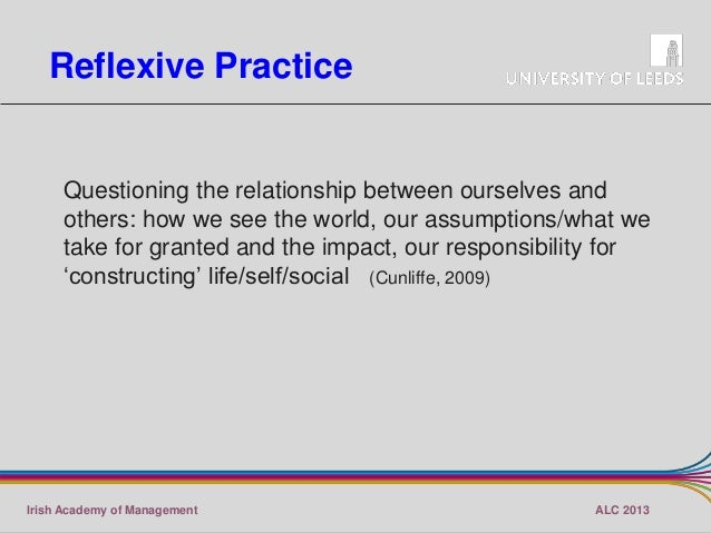 relationship between reflection and reflexivity anthropology