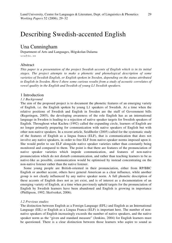Lund University, Centre for Languages & Literature, Dept. of Linguistics & Phonetics          29 Working Papers 52 (2006),...