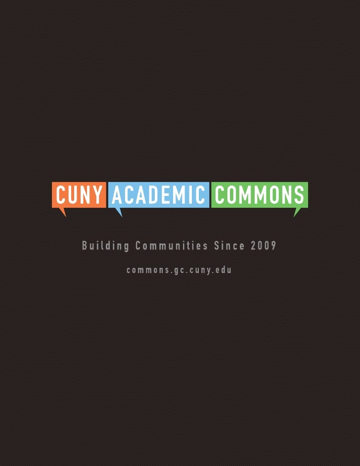 CUNY Academic Commons Brochure
