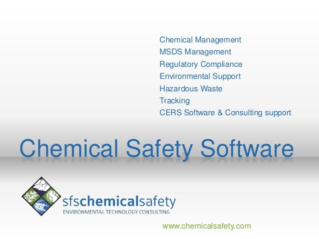 Chemical Management            MSDS Management            Regulatory Compliance            Environmental Support          ...