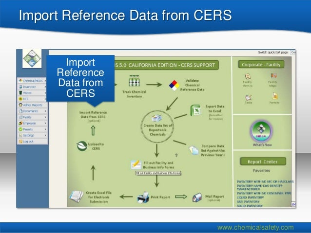 Import Reference Data from CERS      Import     Reference     Data from      CERS                            www.chemicals...