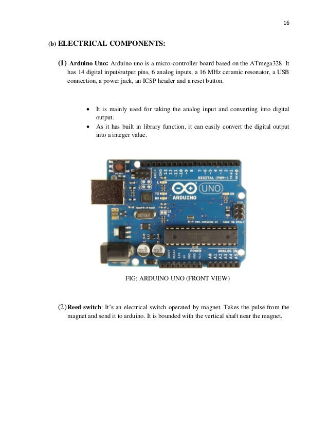 Cup Anemometer Project Report