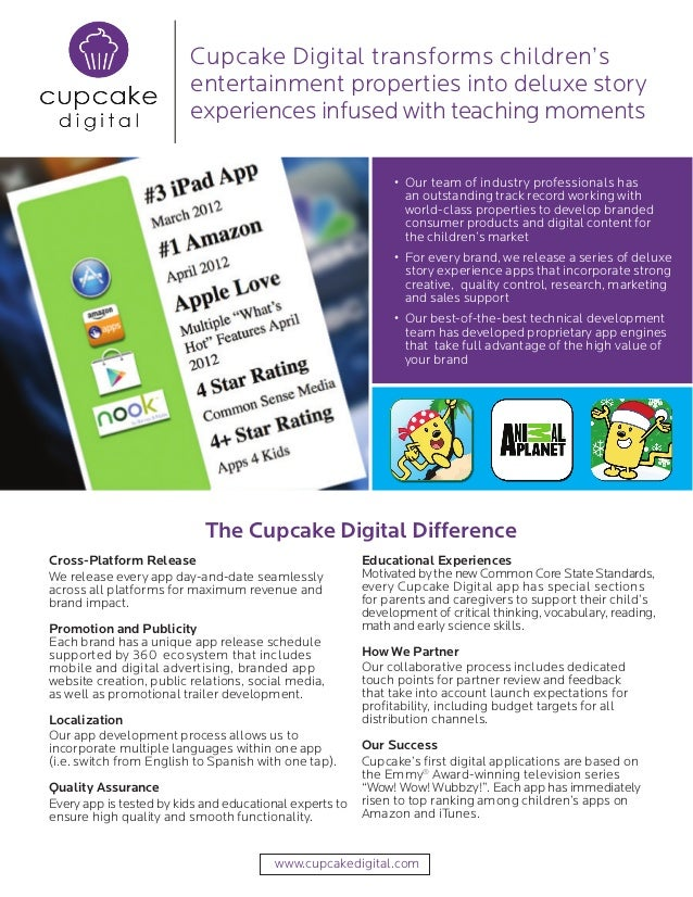 Cupcake Digital transforms children's                         entertainment properties into deluxe story                  ...