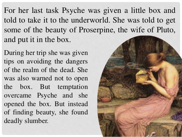 Image result for cupid found psyche sleeping with the box pic
