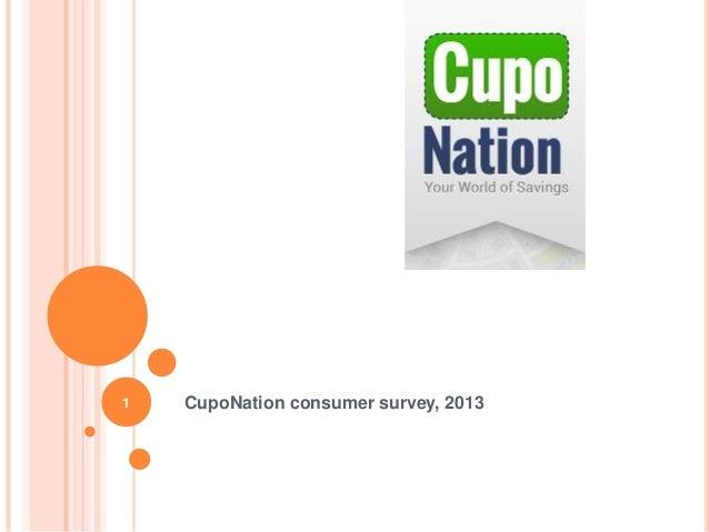 CupoNation consumer survey, 20131