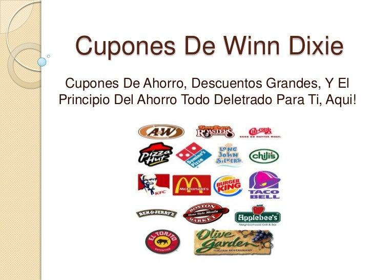 Cupones De Winn Dixie Cupones De Ahorro, Descuentos Grandes, Y ElPrincipio Del Ahorro Todo Deletrado Para Ti, Aqui!