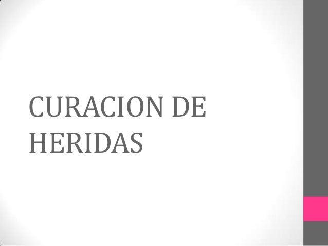 CURACION DE HERIDAS