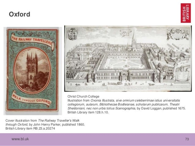 www.bl.uk 73 Oxford Christ Church College Illustration from Oxonia Illustrata, sive omnium celeberrimae istius universitat...