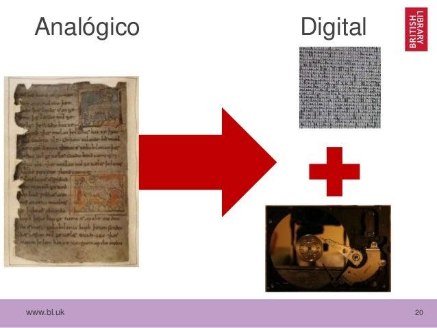 www.bl.uk 20 Analógico Digital