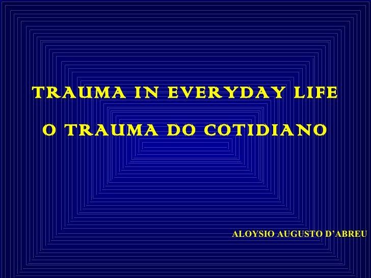 Cura e trauma 3