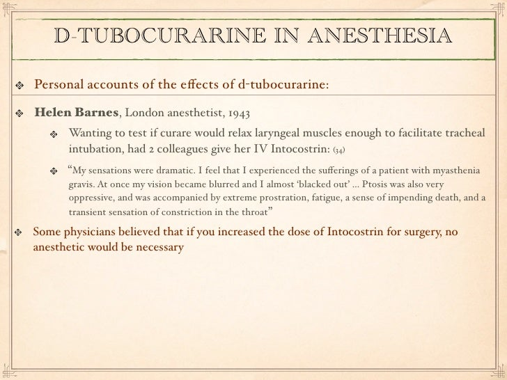 Tubocurarine chloride classification essay