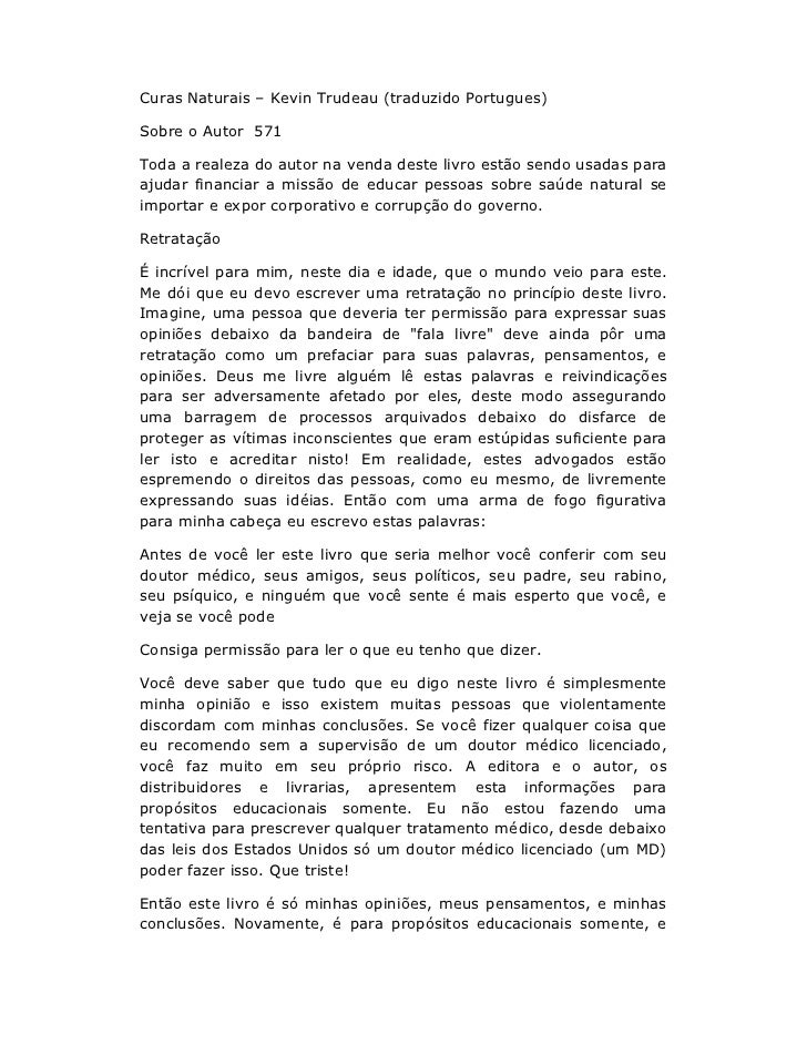 Curas Naturais – Kevin Trudeau (traduzido Portugues)Sobre o Autor 571Toda a realeza do autor na venda deste livro estão se...