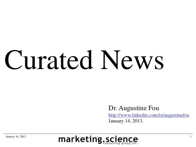 Curated News                   Dr. Augustine Fou                   http://www.linkedin.com/in/augustinefou                ...
