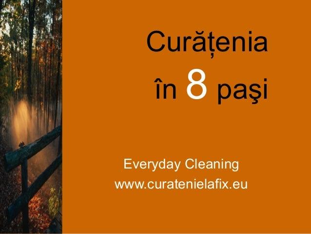 Curăţenia în 8 paşi Everyday Cleaning www.curatenielafix.eu