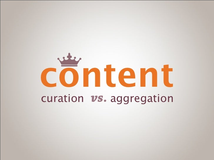 contentcuration   vs. aggregation