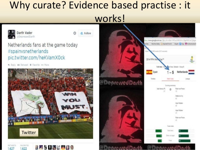 Twitter Why curate? Evidence based practise : it works!