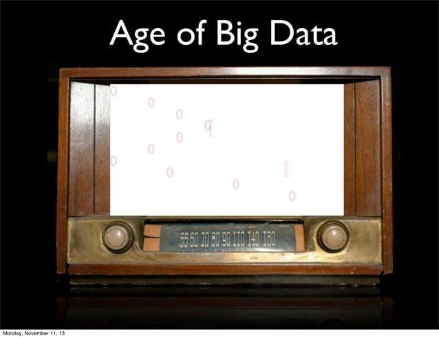 Age of Big Data  Monday, November 11, 13