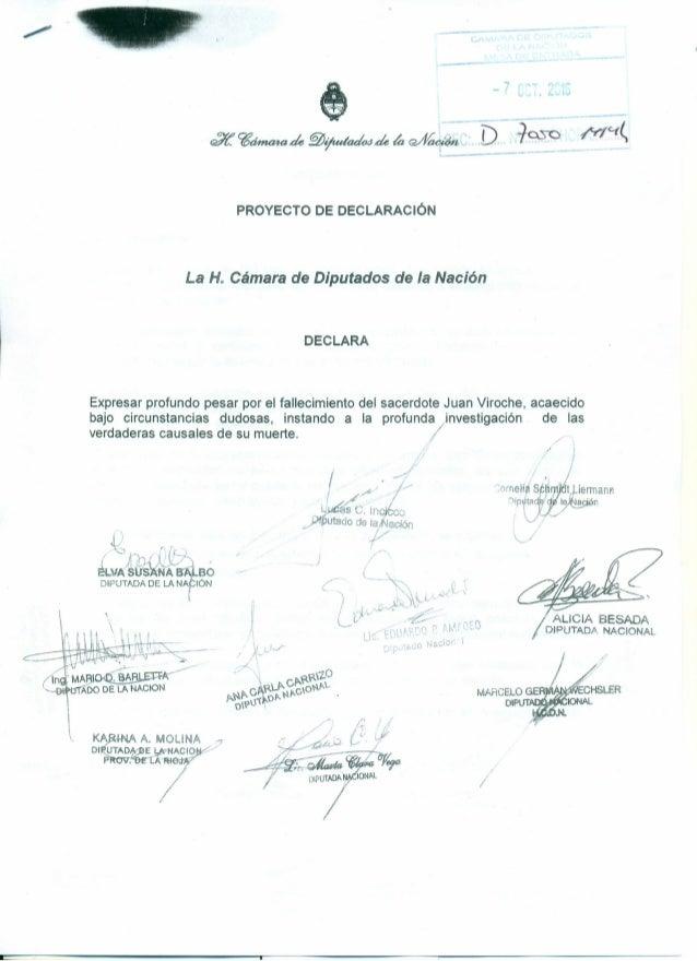 --_.---- t _3.~~de~ijudadojde~Q/I/~ . D.-~~_ ~C(~ •..... PROYECTO DE DECLARACiÓN La H. Cámara de Diputados de la Nación DE...