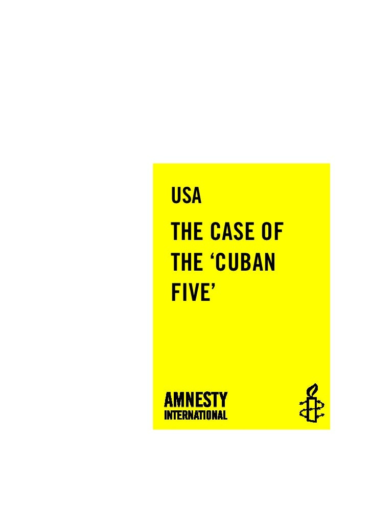 USA THE CASE OF THE 'CUBAN FIVE'