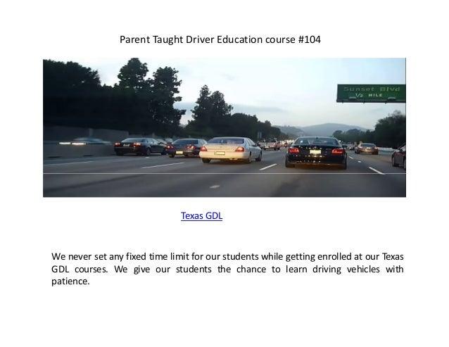 Parent Taught Driver Education