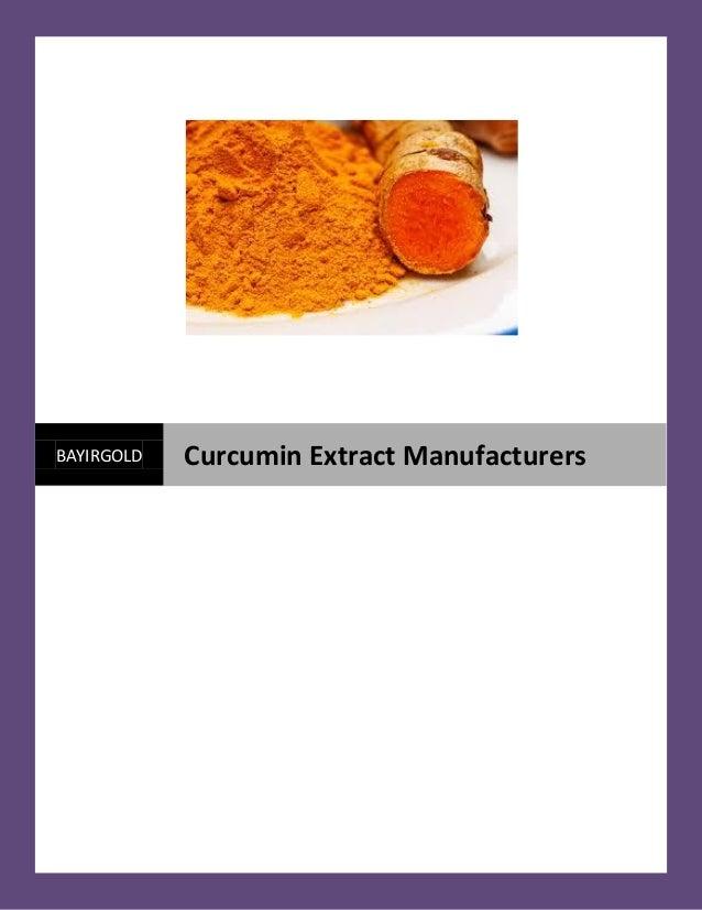BAYIRGOLD Curcumin Extract Manufacturers
