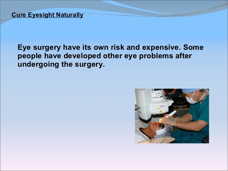 How To Cure Weak Eyesight Naturally