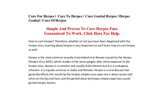 Cure For Herpes | Cure To Herpes | Cure Genital Herpes | Herpes Genital | Cure Of Herpes Simple And Proven To Cure Herpes ...