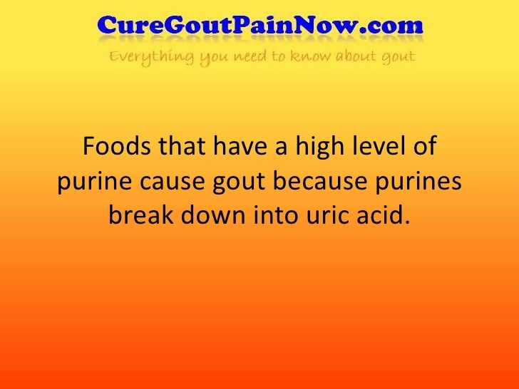 Foods That Cause Uric Acid Level High