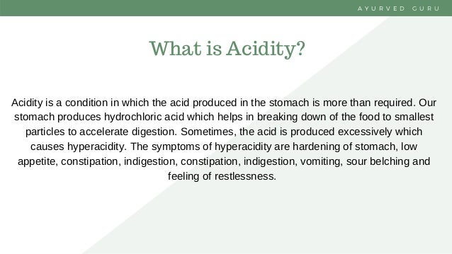 Cure Hyperacidity with Ayurveda