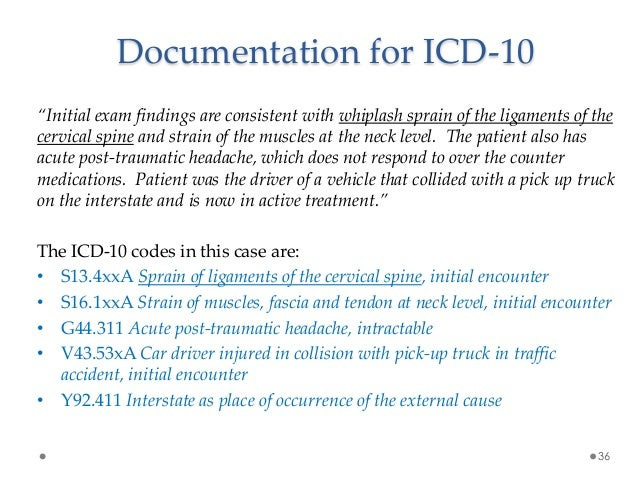 ICD-10 Documentation Improvement Strategies of Traumatic cervical sprain icd 10