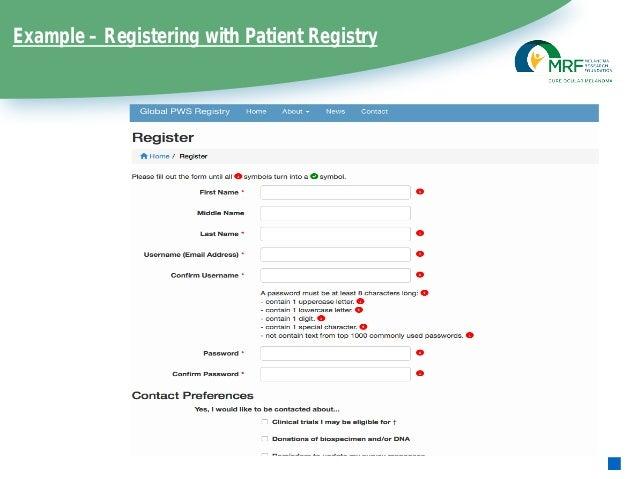 cure om patient registry update