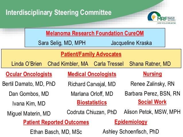 Interdisciplinary Steering Committee Patient/Family Advocates Linda O'Brien Chad Kimbler, MA Carla Tressel Shana Ratner, M...