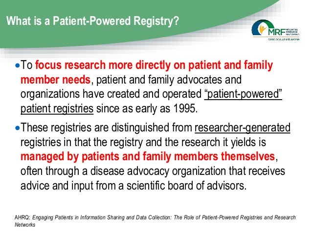 CURE OM Patient Registry Update - 2019 CURE OM Symposium