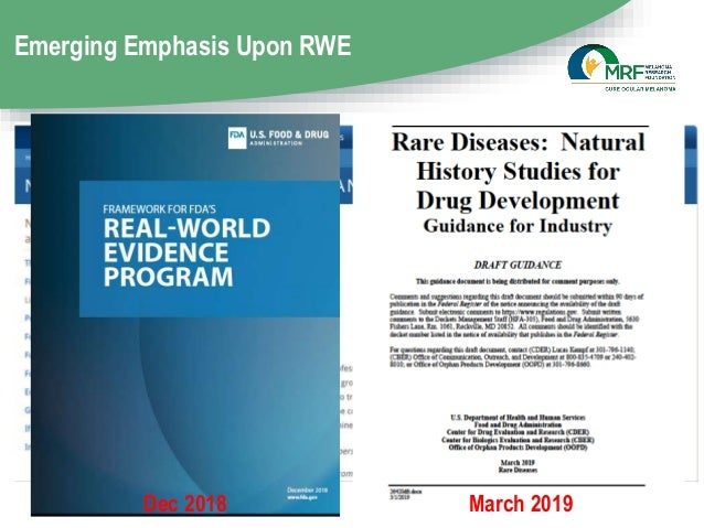 Emerging Emphasis Upon RWE Dec 2018 March 2019