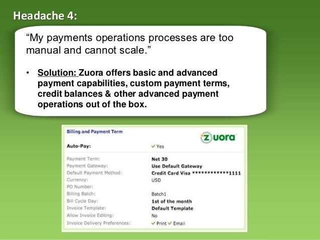 cure recurring payment headaches (webinar), Invoice examples
