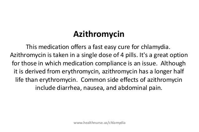 Azithromycin chlamydia 4 pills and a shot