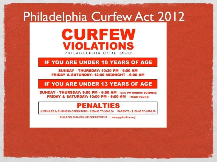 Philadelphia Curfew Act 2012