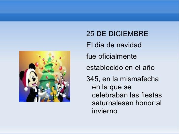 <ul><li>25 DE DICIEMBRE