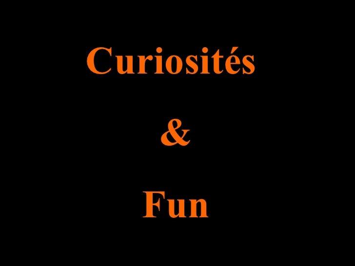 Curiosités  & Fun